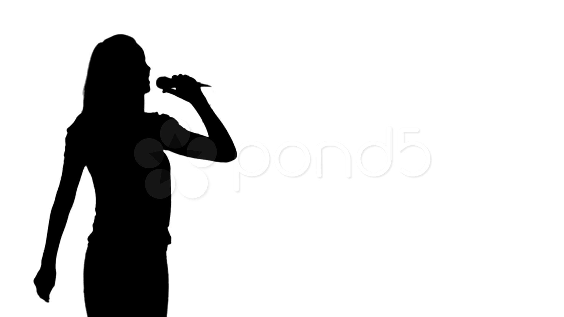 Image Gallery Singing Silhouette