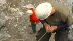 Sports and fitness, rock climbing, #11 from above Stock Footage