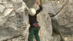 Fitness, rock climbing, #13 from above Stock Footage