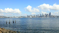 Seattle City Skyline Stock Footage