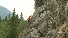 Sports and fitness, rock climbing, #1 Stock Footage