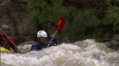Whitewater Kayak slomo 1 Stock Footage