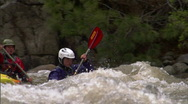 Stock Video Footage of Whitewater Kayak slomo 1