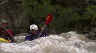 Stock Video Footage of Whitewater Kayak slomo 1