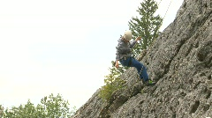Fitness, rock climbing, #7 abseil Stock Footage