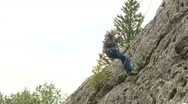 Stock Video Footage of fitness, rock climbing, #7 abseil