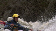 Whitewater Kayak slomo 2 Stock Footage