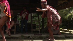 Ifugao people dancing 2 Stock Footage