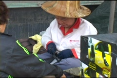 Shoe Repair Lady Fixing Shoes Stock Footage