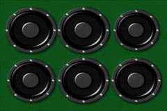 pumping music speakers wall Stock Footage