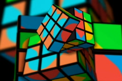 rubix cubes motion movement - stock footage