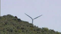 Wind Turbines 15 with Heat Waves Stock Footage