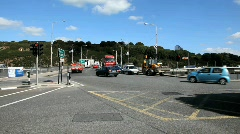 Waterford City Traffic 2 - stock footage