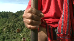 Ifugao warrier 2 Stock Footage