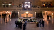 Stock Video Footage of Grand Central Station Clock New York HD720