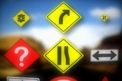 sign choices and direction - stock footage