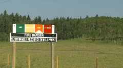 Sign, fire danger sign - high Stock Footage