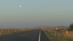 P00606 Highway and Full Moon Stock Footage