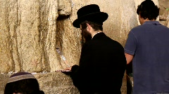Slihot at the Western Wall, Jerusalem Stock Footage
