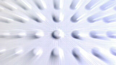 Texture Dolly - white billit rays Stock Footage