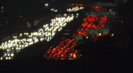 Night traffic at 1300X Stock Footage