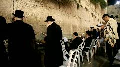 Slihot at the Western Wall, Jerusalem Stock Footage