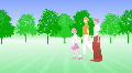 Silhouette Walk P3 BCb HD HD Footage