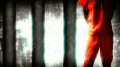 convict prisoner stylized - stock footage