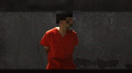 Blurred face inmate (best).mov Stock Footage
