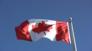 Canadian Flag Stock Footage