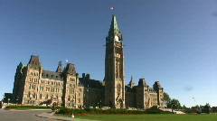 Canadian Government Parliament Building Ottawa Stock Footage