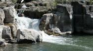 Waterfall thru rocks P HD 2273 Stock Footage