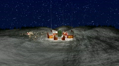 Santa Leaving Village HD1080 Stock Footage