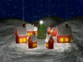 Santa Leaving Village NTSC Stock Footage
