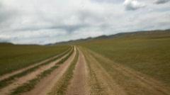 The transmongolian highway Stock Footage