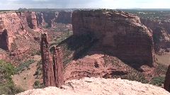 Canyon de chelly pan-spider rock Stock Footage