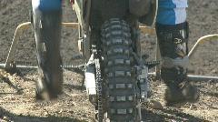 Start line motocross Stock Footage