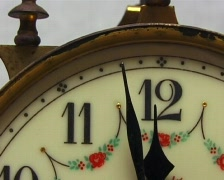 Antique clock dial Stock Footage