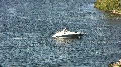 Motor Boat Cruiser Stock Footage
