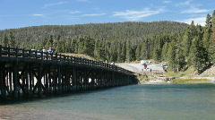 Fishing Bridge Yellowstone P HD 2332 Stock Footage