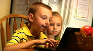 Kids with Laptop 892 Stock Footage