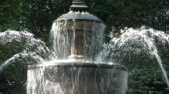 New York fountain close up - stock footage