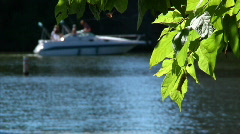 River Boater 886 - stock footage