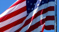 Stock Video Footage of Slow Motion American Flag 891