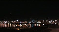 Reykjavik night Stock Footage