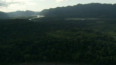 Amazon basin from the air - stock footage