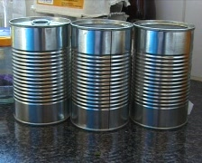 reflections in cans - stock footage