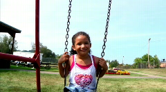 Girl on Swing 920 Stock Footage