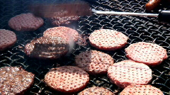 Stock Video Footage of Grilling Hamburgers 918
