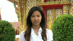 Girl Doing A Thai Style Greeting Stock Footage